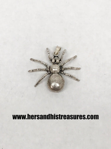 Sterling Silver Spider Pendant With Moving Parts
