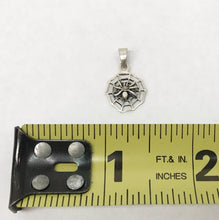 Load image into Gallery viewer, Sterling Silver Spiderweb Pendant  1/2""