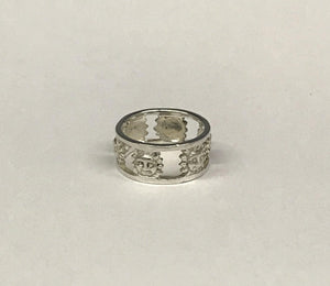 Vintage Sun Sterling Silver Ring Band