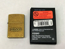 Load image into Gallery viewer, New 2018 Zippo Stamp Antique Brass Zippo Lighter