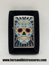 Load image into Gallery viewer, New 2019 Day Of The Dead Skull Zippo Lighter