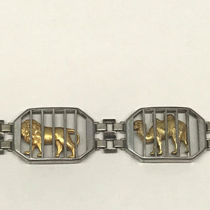 1940's Rare Robert Kiefer Traveling Circus Zoo Animal Sterling Bracelet
