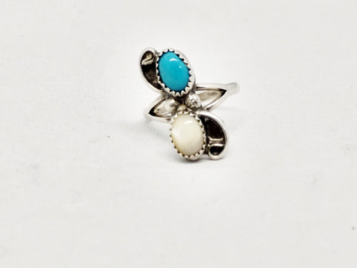 www.hersandhistreasures.com/products/Navajo-Turquoise-and-Moonstone-Sterling-Silver-Ring