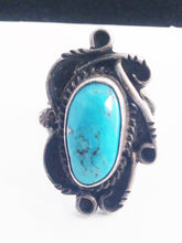 Load image into Gallery viewer, Navajo Native American Sterling Silver Turquoise Ring