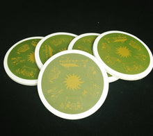 Load image into Gallery viewer, Vintage Green Ceramic Coasters W/ Cork Backing Set Of 5