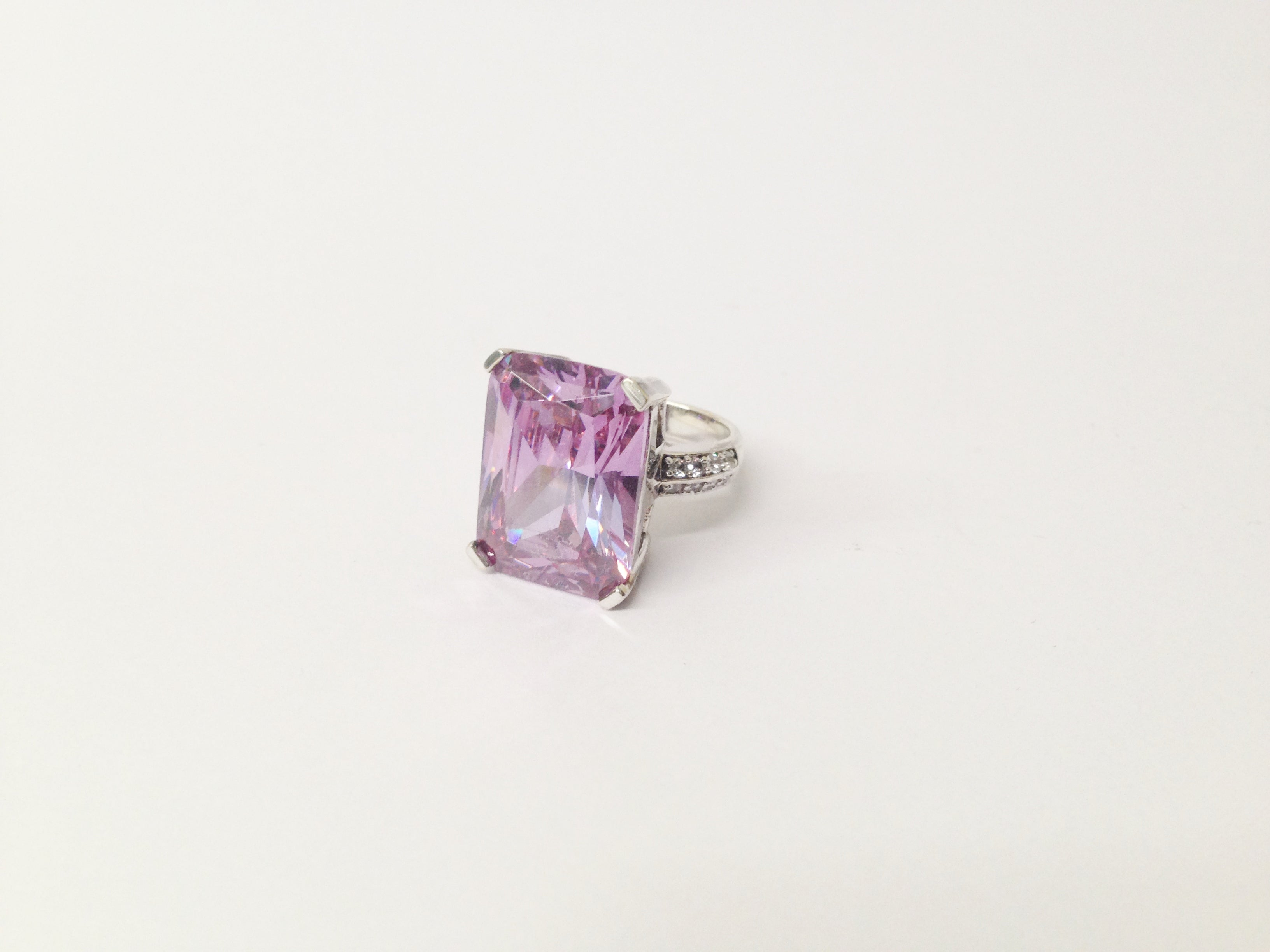 Large Purple CZ .925 Sterling Silver Ring www.hersandhistreasures.com/collections/sterling-silver-jewelry