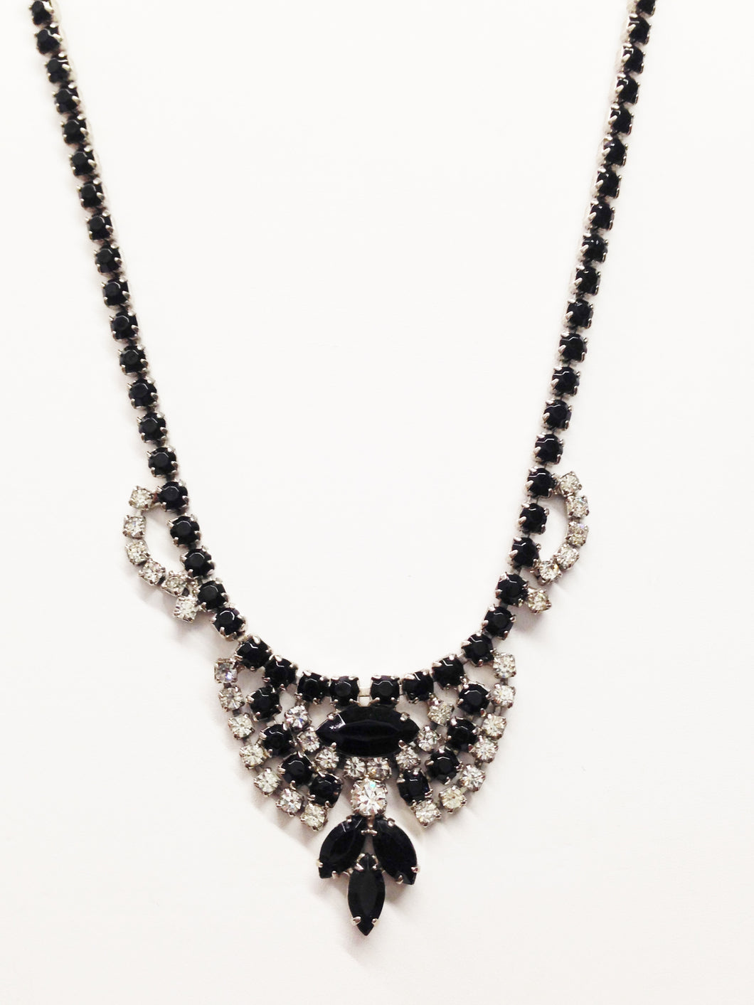 1950's Rhinestone Bib Necklace