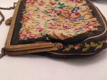 Load image into Gallery viewer, Vintage Petit Point Needlepoint Tapestry Handbag