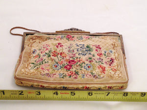 Vintage Petit Point Tapestry Purse From Austria