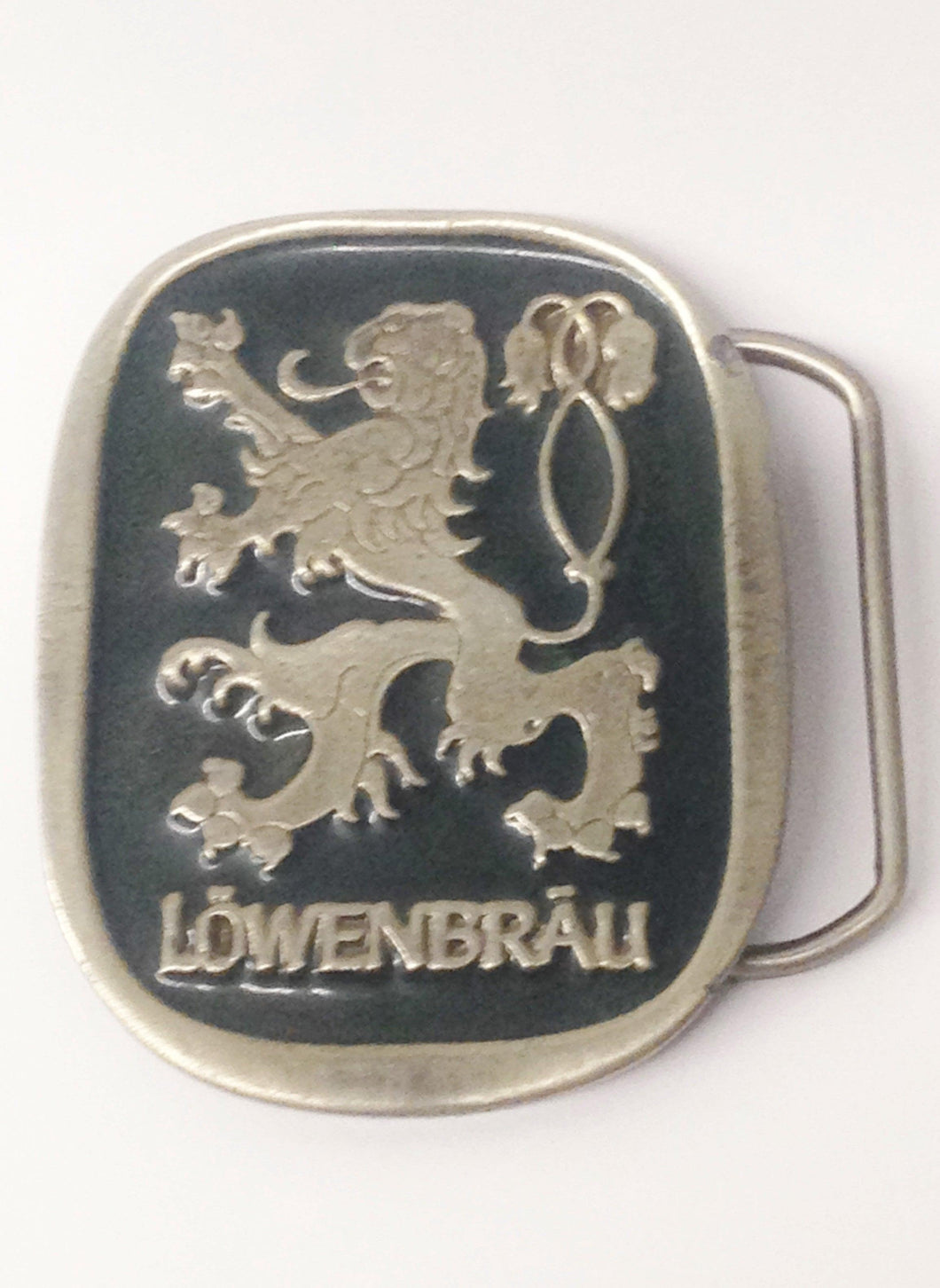 Vintage Lowenbrau Beer Advertising Belt Buckle 2094