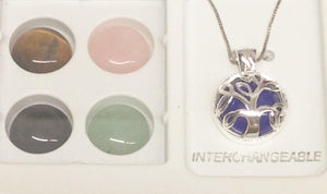 Sterling Silver .925 Interchangeable Tree Of Life Necklace www.hersandhistreasures.com
