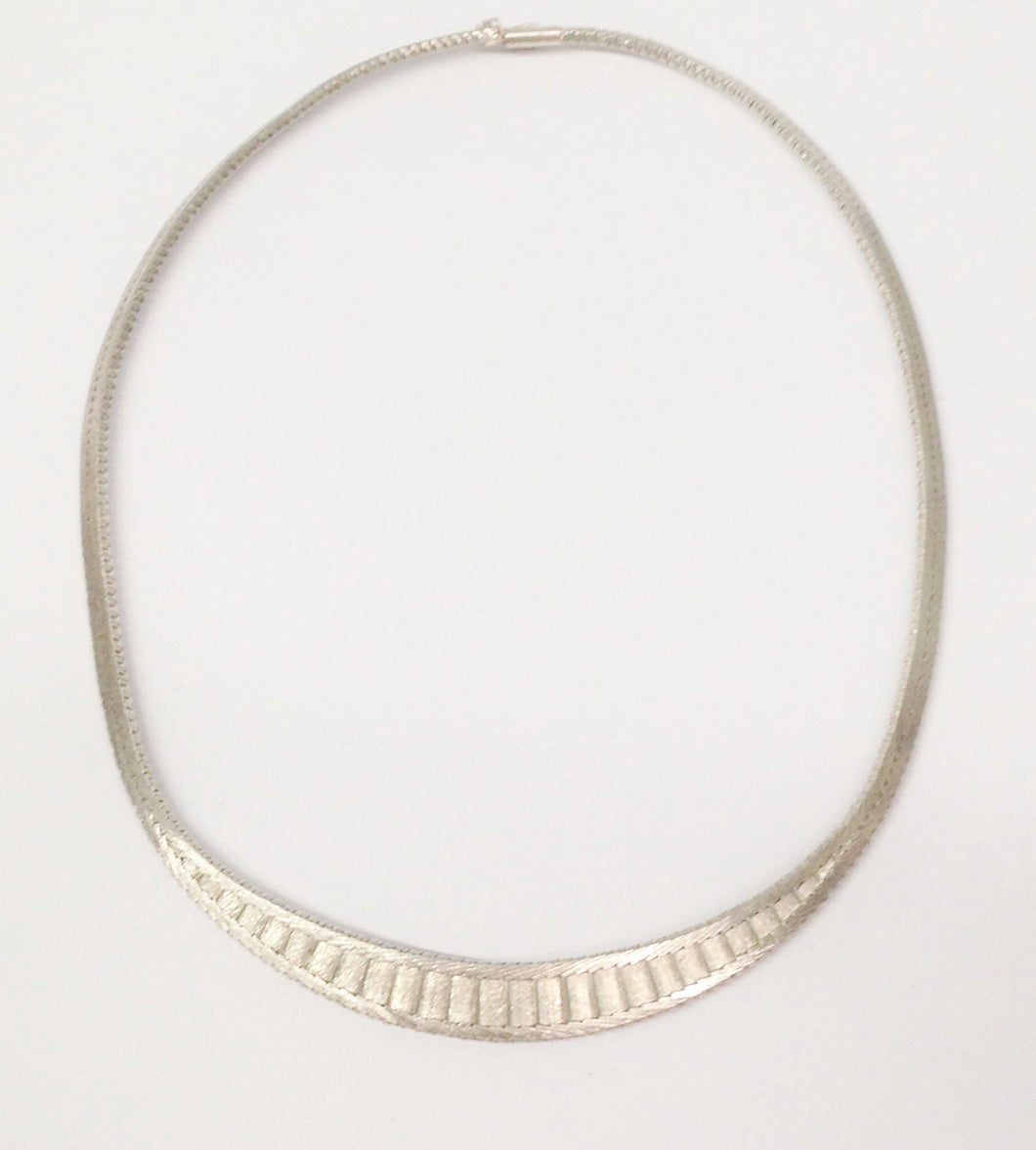 Sterling Silver .925 Choker Necklace www.hersandhistreasures.com