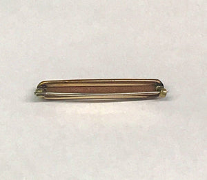 Antique Gold Filled Goldstone Bar Brooch Pin