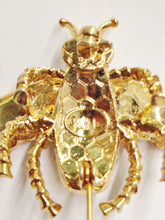 Load image into Gallery viewer, Kenneth J Lane KJL Bee Rhinestone Brooch Pin