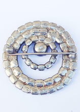 Load image into Gallery viewer, Monet Clear Rhinestone Round Brooch Pin