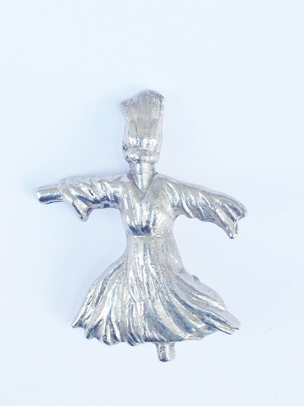 Silver Tone Female Scarecrow Brooch Pin www.hersandhistreasures.com