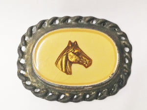 Vintage Horse Head Metal Buckle