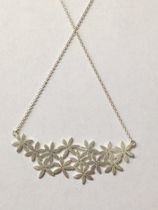 Tashi Signed Floral Sterling Silver Necklace