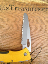 Load image into Gallery viewer, Vintage Gerber EZ Out Fully Serrated Rescue Knife USA