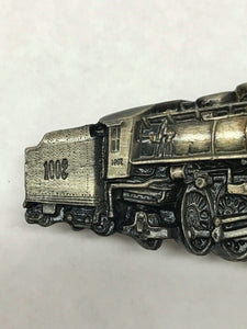 1978 Bergamot Brass Works Locomotive Train Engine Belt Buckle