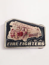 Load image into Gallery viewer, U.S.A. Fire Fighters 2070 Solid Metal Belt Buckle www.hersandhistreasures.com