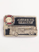 Load image into Gallery viewer, Fire Department America's Bravest Belt Buckle 8517 www.hersandhistreasures.com
