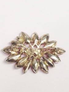 Vintage Blood Orange Flower Brooch Pin