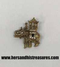 Load image into Gallery viewer, Les Bernard Signed Elephant Rhinestone Brooch Pin