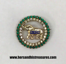Load image into Gallery viewer, Joseph Warner Nixon Politcal Campaign Elephant Brooch Pin