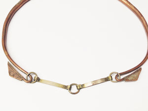Antique Copper Tribal Choker Necklace