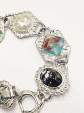 Load image into Gallery viewer, Vintage Sarah Coventry Silver Tone Multi Faux Gemstone Bracelet