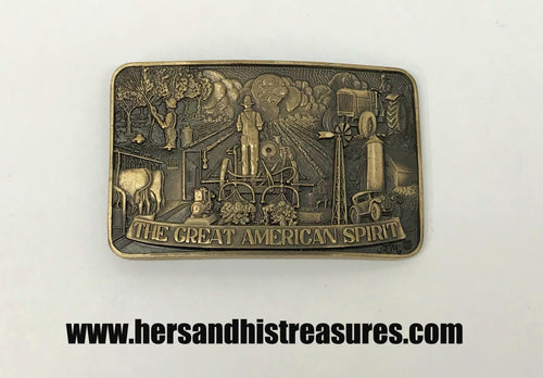 ADM The Great American Spirit Solid Brass Belt Buckle
