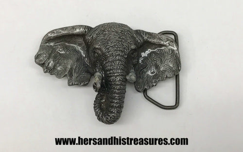 1980 Vinegarroon Foundries Pewter Elephant Belt Buckle