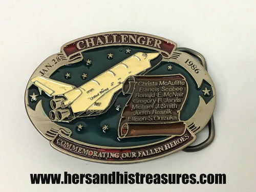 Challenger Commemorating Our Fallen Heroes Belt Buckle