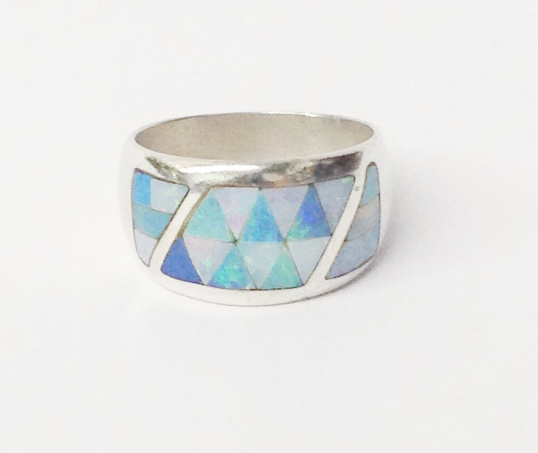 DTR Jay King Opal Inlay .925 Sterling Silver Ring www.hersandhistreasures.com/collections/sterling-silver-jewelry