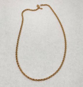 "Vintage 14KGE S Lind 18"" Rope Chain Necklace"