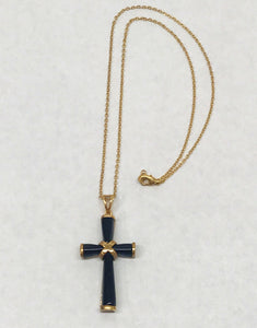 14K GF Cross Chain Link Necklace