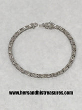 Load image into Gallery viewer, Sterling Silver Simulated Tennis Bracelet