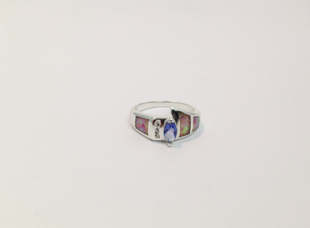 Lab Created Opal CZ Sterling Silver .925 Ring www.hersandhistreasures.com/collections/sterling-silver-jewelry