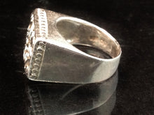 Load image into Gallery viewer, Sterling Silver Rectangular Filigree Ring