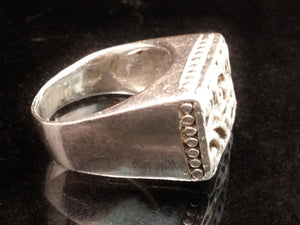 Sterling Silver Rectangular Filigree Ring