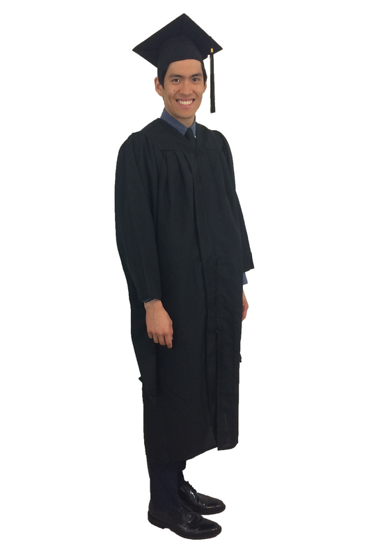 Masters Cap, Gown, and Tassel- Matte Black – Discount Cap & Gown