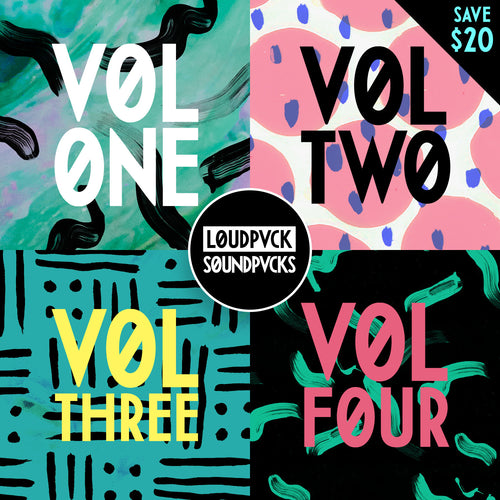 LOUDPVCK VOLUME ONE, TWO, THREE & FOUR
