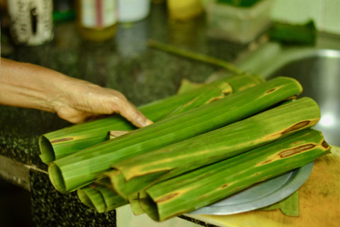 Wrapping the Fish in Banana Leaves