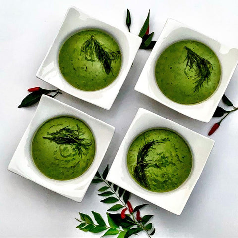 Spinach, Lettuce & Pea Soup