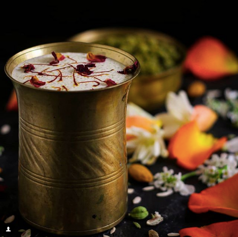 Thandai - A chilled, sweet and spiced milky concoction