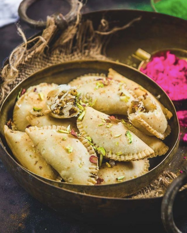 Sweet gujiyas are a delicious Holi snack