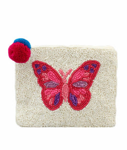 Pink Butterfly Coin Purse