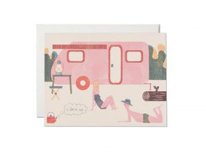 I love us caravan - card