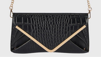 Croc Embossed Envelope Clutch